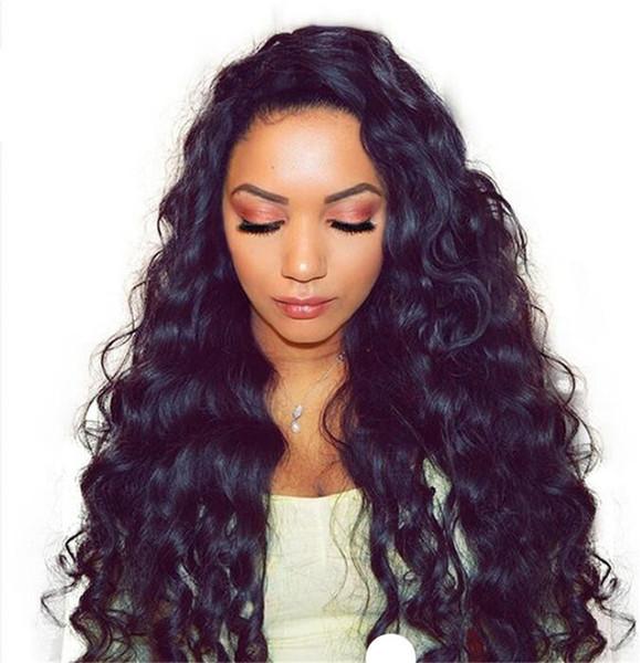 8A Full Lace Perruques de Cheveux Humains Pour Les Femmes Noires Perruques Brésiliennes Soie Top Ondulés Sans Colle Avant de Lacet Perruques de Cheveux Humains