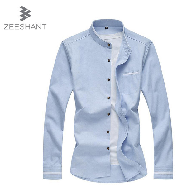 6XL 7XL New 2018 Spring Autumn Men Clothes Solid Color Casual Long-Sleeved Men Shirt Mens Dress Shirts in mMen's Tuxedo Shirts