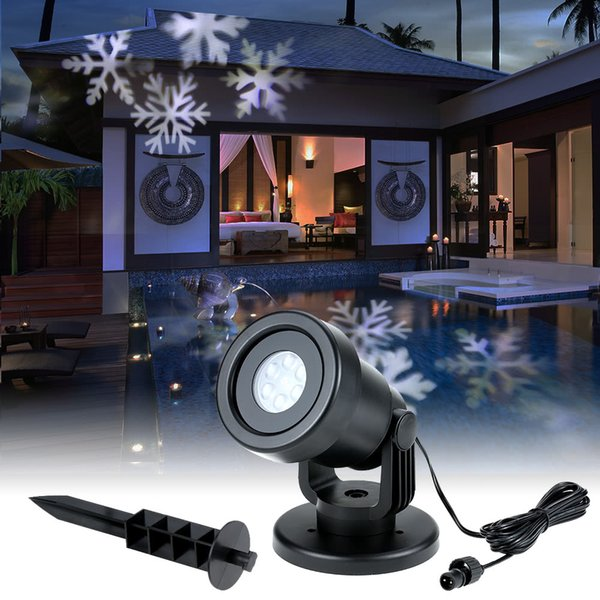 Christmas Moving Snow Laser Light Projector Lamps Snowflake LED Stage Lights For Xmas Wedding Party Outdoor Garden Lawn Landscape Night Lamp