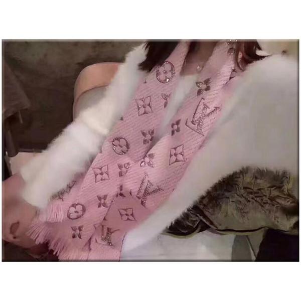 Lujo bufanda de invierno mantón para las mujeres de la marca de lana para hombre bufanda moda mujer carta diseñador cálido invierno bufandas de flores 180X32 CM regalos