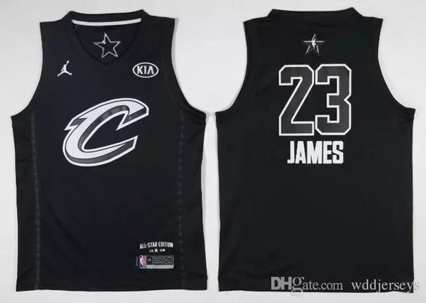 quality design b1ef6 a2312 2018 2018 All Star Jerseys 23 Lebron James 21 Joel Embiid 30 35 4 10 11 0  13 25 34 Giannis Antetokounmpo 0 Russell Westbrook Black White Stitched  From ...