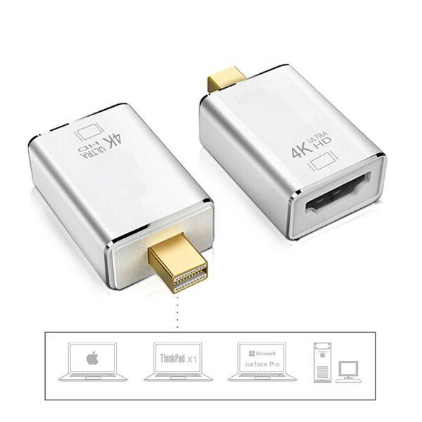 Hohe Qualität Mini DisplayPort Thunderbolt DP Stecker auf HDMI Buchse Adapter HDMI Stecker für Projektor Kamera TV PC Mini DP Konverter