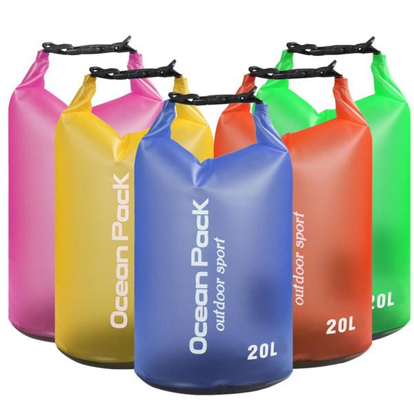 20L Waterproof Water Resistant Dry Bag Sack Storage Pack Pouch Swimming Kayaking Canoeing River Trekking Boating Sailing Fishing