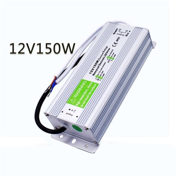 best price 1 pcs 12V 150W Waterproof Electronic LED Driver Power Supply Transformer 170V-250V 12v 12.5a IP67 outdoor power