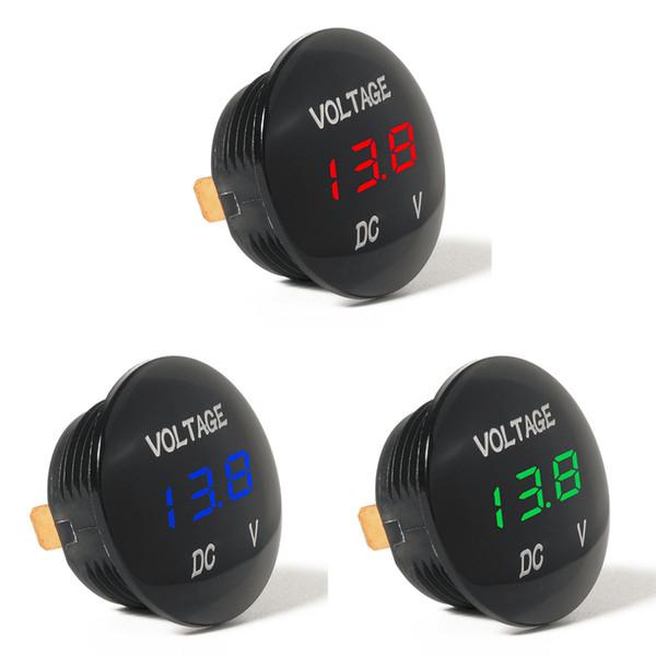 Waterprof voiture LED 12-24V court circuit de protection moniteur de batterie Précis affichage numérique Tension mètre compteur thermomètre Vente chaude