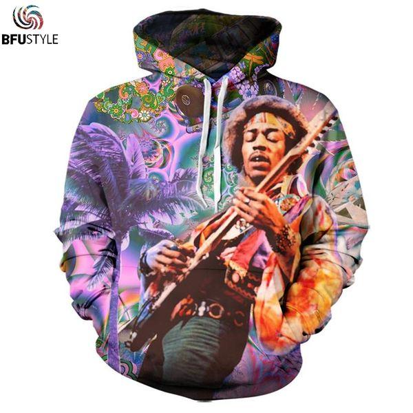 Gros-Bob Marley 3D Sweat À Capuche 2017 Unisexe Automne Hiver Mince À Capuche À Capuche Casual Hommes Vêtements Marque Outwear Veste Dropship
