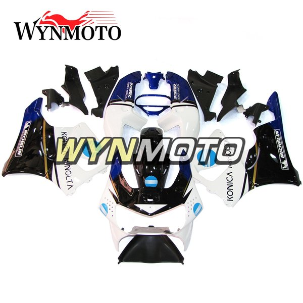 Carenados blancos azul negro ABS Careing para Honda CBR900RR 919 Año 1998 - 1999 CBR900 RR 98 99 Completo kit de carenado