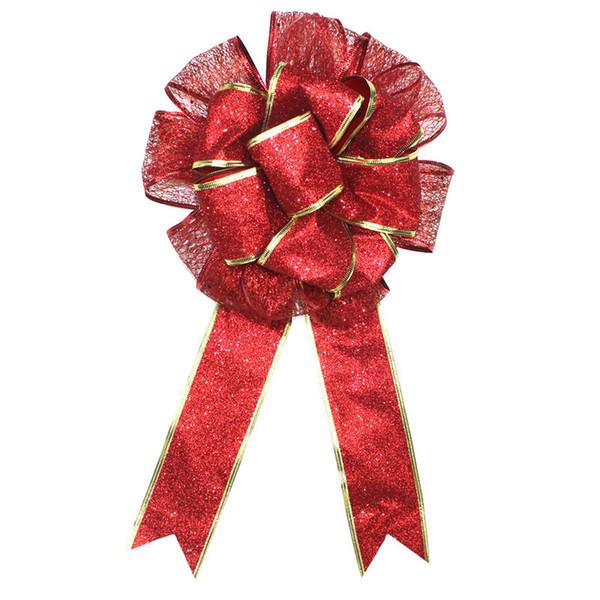 45x25CM Christmas Bow Lace Ribbon Bouquet Indoor Flowers Festive Party Decor Supplies
