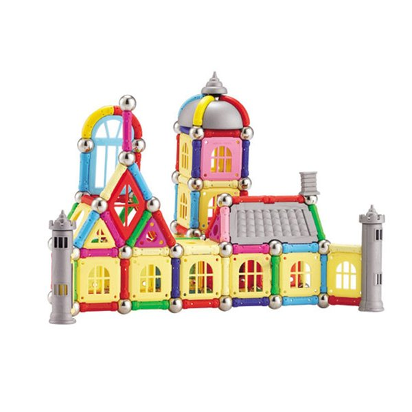 438 pcs Magnetic Building Blocks Toy Castle 3D DIY Educational Construction Toys For Kids Birthday Gifts J