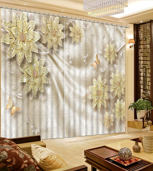 2019 European Style Creative Wood Rose Modern Living Room Curtains Blackout  Curtain For Hotel Drapes Cortian From Yiwu2017, $200.0 | DHgate.Com