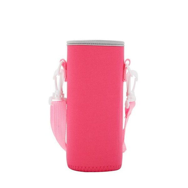 Protable Neoprene Cup Holder Water Bottle Case Cup Cover Bags Holder Carrier With String 200pcs