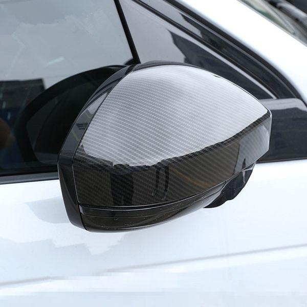 Copertura per specchietto retrovisore in fibra di carbonio per Land Rover Discovery Sport 15-18 Evoque per Jaguar F-pace 2016 ABS Car Styling