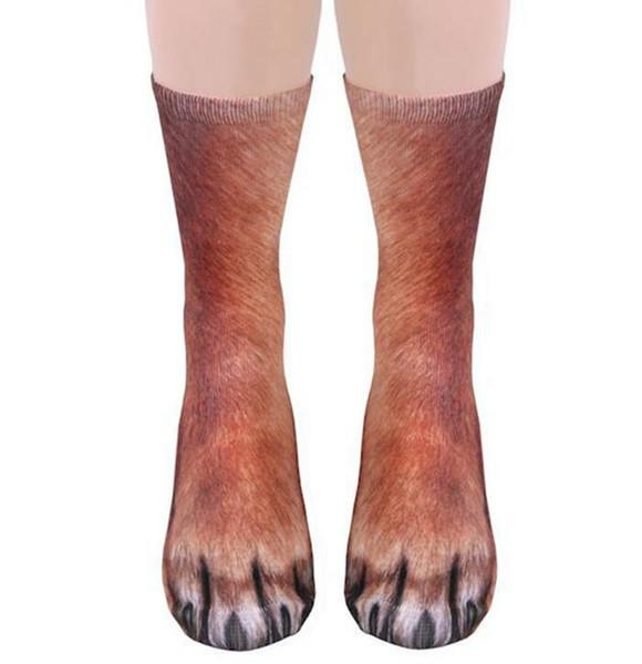Calzini di zoccolo del piede animale 3D cosplay stampato gatto cane tigre zampa calze per i bambini adulti Natale calza piano casa