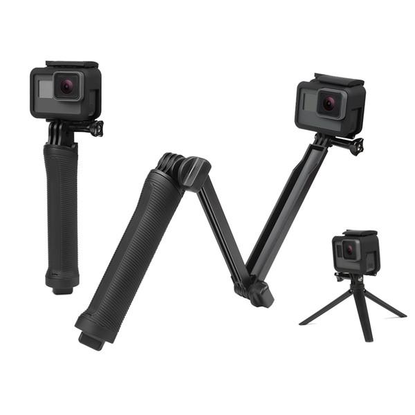 Su geçirmez monopod için selfie sopa gopro hero 5 4 3 oturumu ek7000 xiaomi yi 4 k kamera tripod git pro aksesuar