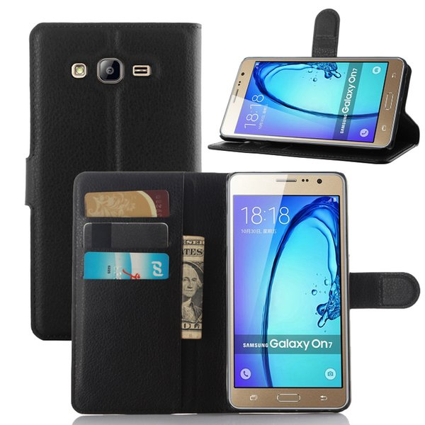 New Fashion Case For Samsung Galaxy on5 Pro on7 Pro Classic Flip Leather Wallet Stand Case Soft TPU Cover