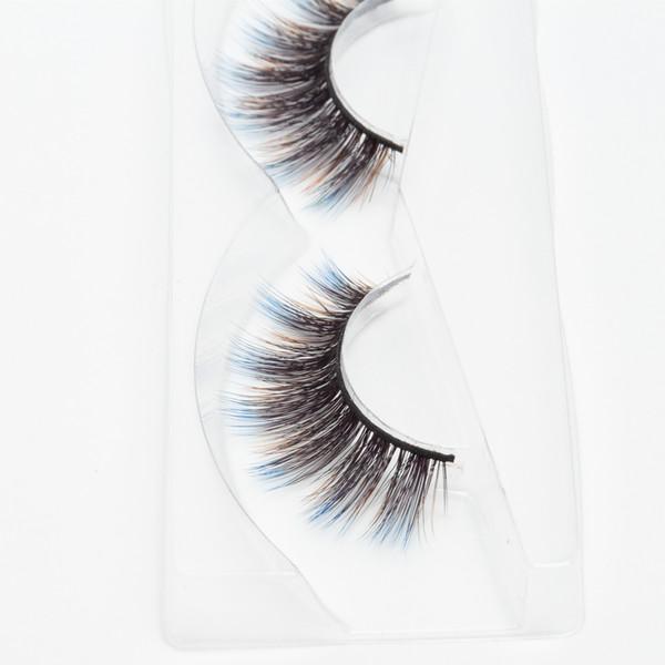 Seashine strip 3d silk lashes 3d colorful silk eyelashes false eyelashes fancy color lashes accept private label free shipping