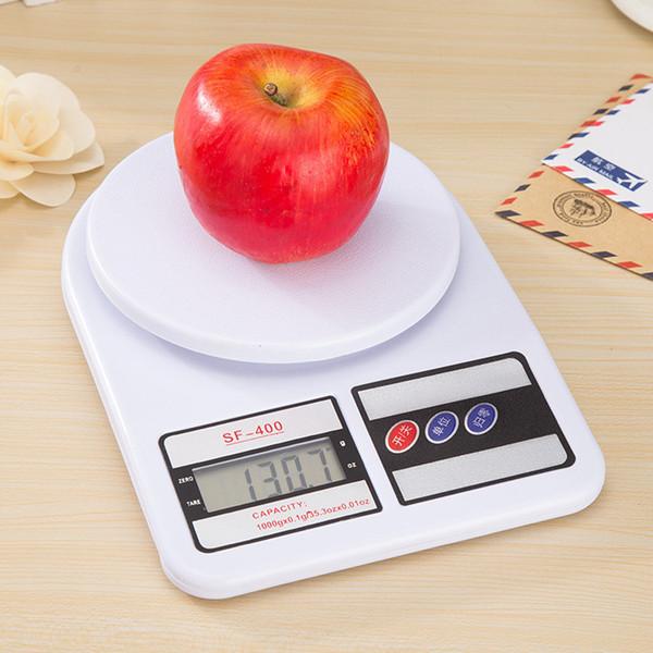 Escala Cozinha Eletrônica Digital Balanças de Cozinha Equilíbrio Doméstico Comida Eletrônica Equilíbrio digital Cozimento 10kg / 1g Portátil LCD Digital