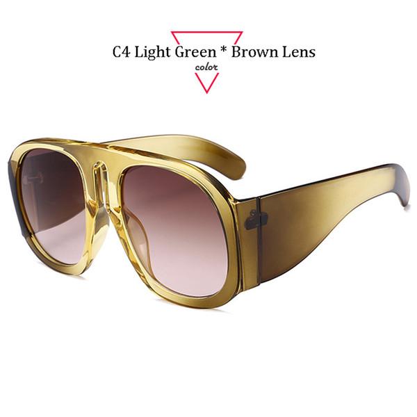 C4 Cadre vert clair Lentille brune