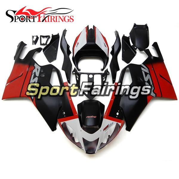 Complete Matte White Red Black Fairings For Aprilia RSV 1000 mile 2004 2005 2006 ABS Plastic Motorcycle Fairing Kit Bodywork