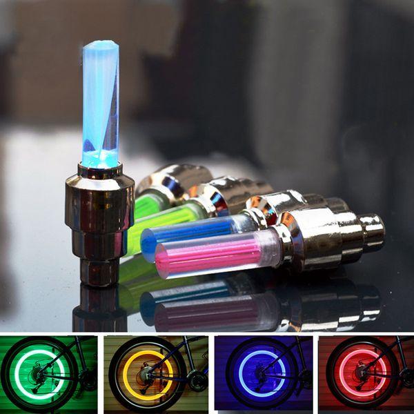 LED Flash Pneu De Vélo Roue De Bouchon De Valve Lumière De Voiture De Vélo Vélo De Moto Roue De Pneu Lumière LED Voiture De Lumière Bleu Vert Rouge Jaune Lumières Coloré