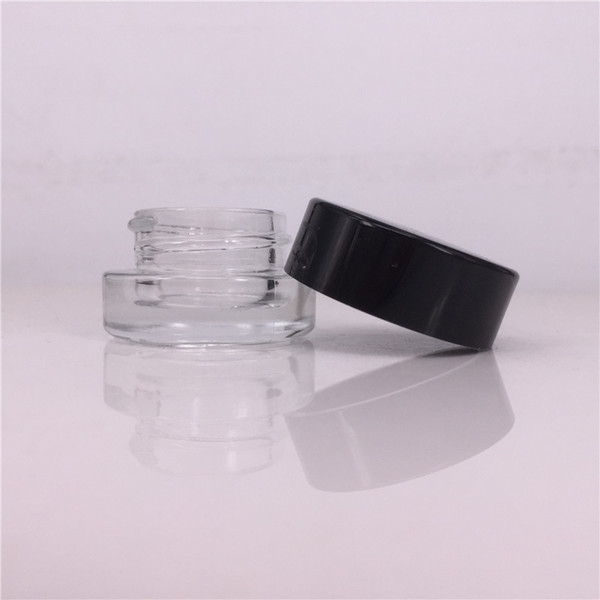Food Grade 6ml Non Stick Glass Concentrate Container Glass Bottle Wax Dab Jar Thick Oil Container VS 5ml Glass Jar
