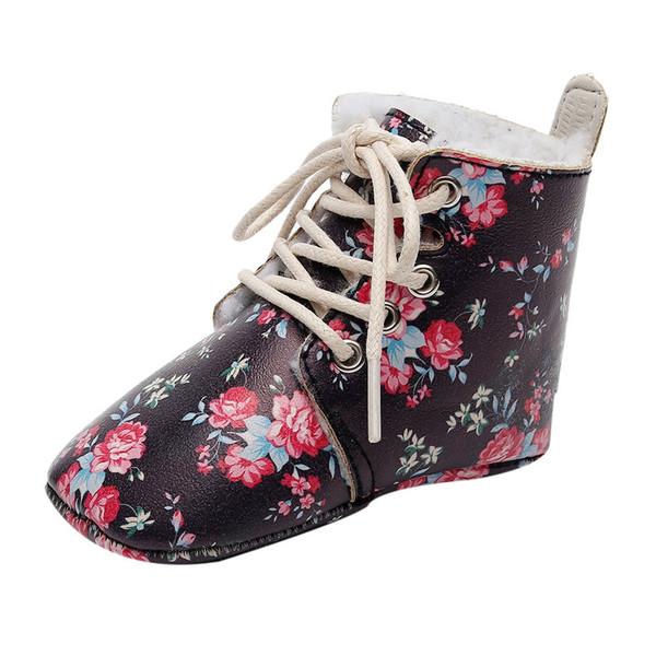2018 Neue Kinder Mädchen Stiefel Leder Prinzessin Martin Stiefel Mode Elegante Blumen Casual Kind Schuh Für Mädchen Baby Schuhe #QJ