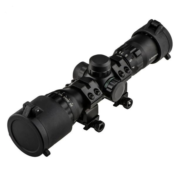 Perspectiva óptica de la caza Alcance Visores telescópicos 3-9X32AOL Holográfico Airsoft Rifle Scope Dot Air Vision Caza Air Gun Scope