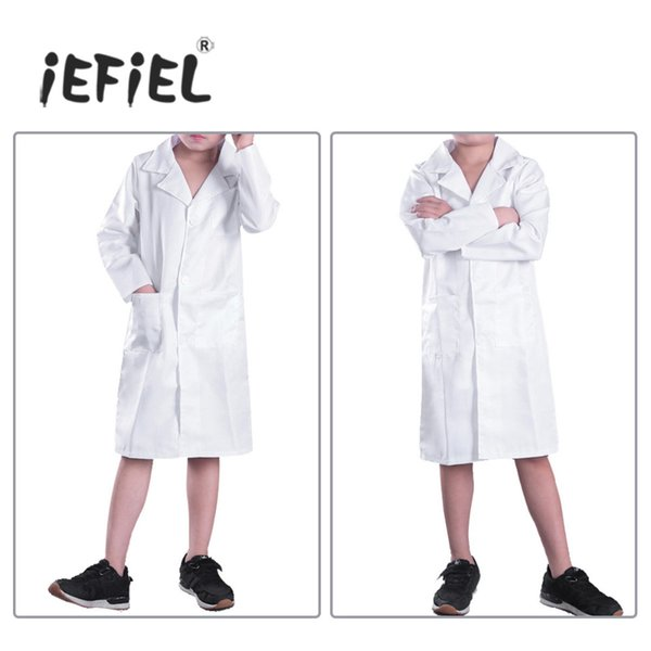 uniform cosplay iEFiEL Unisex Boys Girls Long Sleeves Doctor Cosplay Uniform Party Costume Lab Coat for Halleween Easy Dressing Clothing