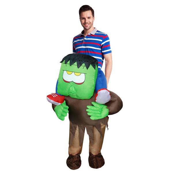 Neue Erwachsene aufblasbare Horrible Fahrt auf Frankenstein Monster Kostüm Halloween Cosplay Outfit Halloween Kostüm für Frauen