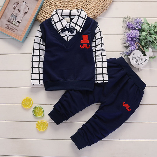 BibiCola spring autumn Baby Boy Clothes Set spring autumn Baby Boy ClothesBaby Boys T-shirts+Pants 2PCS Tracksuit