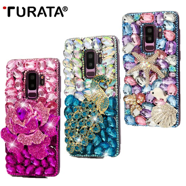wholesale 3D Handmade Diamond Case For iPhone 6 6S 7 Plus For Samsung Galaxy S8 S9 Plus Bling Rhinestone Crystal PC Back Cover