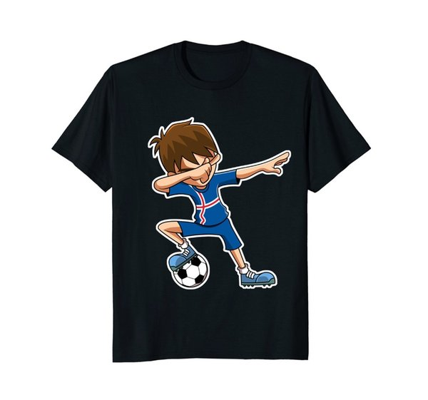 2018 New Brand Sales Cotton Short Sleeve Soccerer Shirt for Boys, Dabbing,Iceland Flag Jersey,Gifts Tee Funny