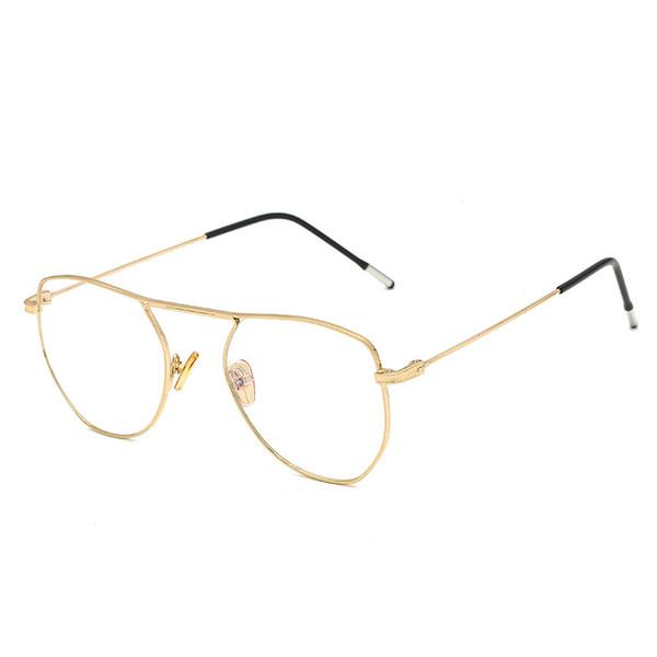 mejor servicio cf3c2 17262 Compre Nuevo Marco De Metal Dorado Vintage Anteojos Para Hombre Para Mujer  Gafas De Ordenador Retro Lente Óptica Gafas Nerd Gafas De Lentes ...