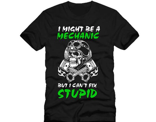 Nouveaux T-shirts Drôles Tops Tee Nouveaux Unisex Topsi Drôles Peut-être Un Mécanicien Mais Cant Fix Difficile Stupide Crâne Piston Dtg Hommes T Shirt T-shirts