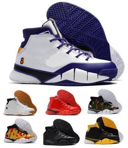 wholesale dealer ea449 25259 Last Kobe 1 Protro Air Basketball Shoes Men White Close Out Mamba Protrotv  Undefeated UND Fade Devin Booker PE Designer Sport Shoe Sneaker Womens  Basketball ...