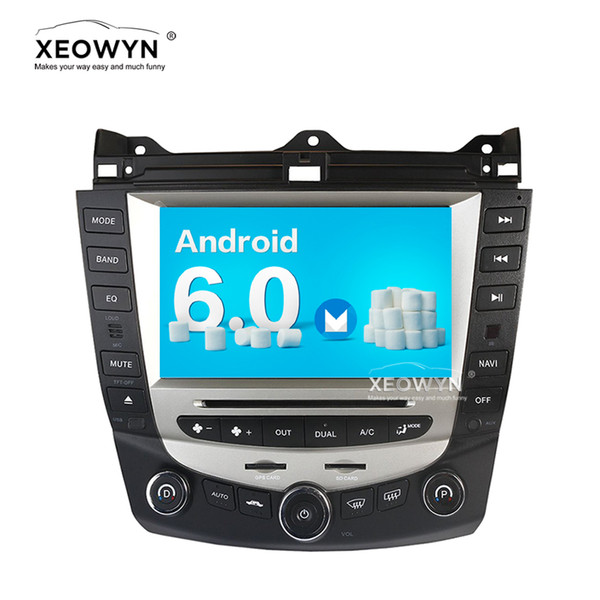 Android 6.0 car dvd player gps navigation for honda accord 7 2003-2007 EURO car Stereo Radio dual / Single Zone Climate Control