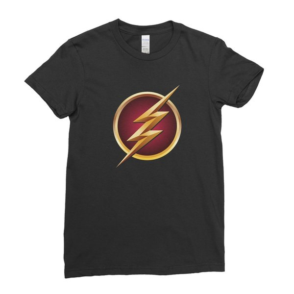 O Flash Superhero Comic Mulheres T Shirt Tee Top Legal Casual Orgulho T Shirt Homens Unisex Nova Moda Tshirt Solto Tamanho Top