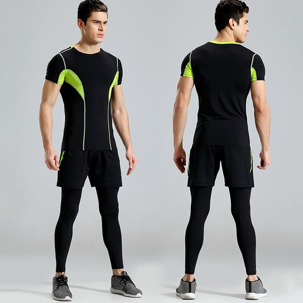 76e601020cd 2019 2018 Men Running Set Sportswear For Fitness Gym Clothing Men Sports  Suit Tracksuits Sportsmen Wear Sports Costumes From Booni, $47.38 | ...