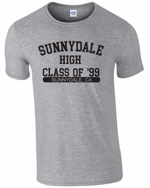 Camisas de verano de manga corta camiseta de la novedad de los hombres de manga corta personalizada XXXL camisetas divertidas Sunnydale Buffy Camiseta para hombre T-Shirt