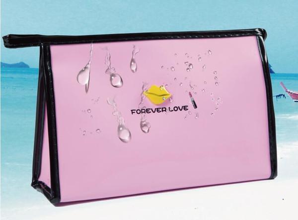 Vente chaude pour toujours amour femmes dame sac à cosmétiques