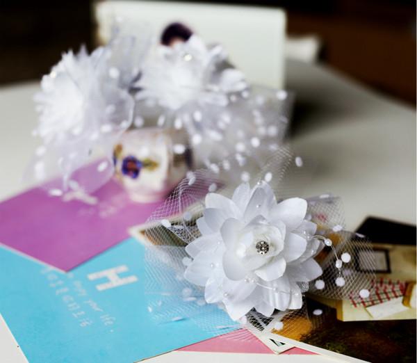 Acheter Tissu Perle Cristal Perlé Fleur Épingle À Cheveux Pour La Fête De Mariage Mariage Hawaï De $6.04 Du Miazhu | DHgate.Com