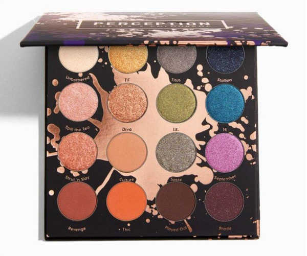 NEWest Arrived! shayla x colourpop PERCEPTION eye shadow palette cosmetics styleBrighten & beauty your eyes FASTshipping 16 COLORS