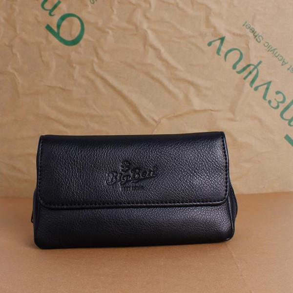 Accessoires de fumeur épaissis de style nouveau, sac simple, noir chaud, cuir de litchi, sac à pipes multicouche.