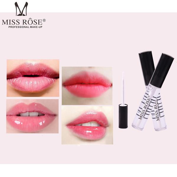 2018 El Más Nuevo Aceite para Labios MISS ROSE Profrssional Make Up Lip Balm Tubo Transparente Hidratante Brightening Lip Lips Envío Gratis