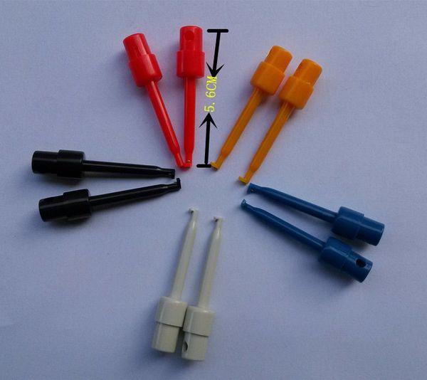 Wholesale-10PCS Multimeter Lead Wire Kit Test Hook Clip Grabbers Test Probe SMT/SMD IC D20