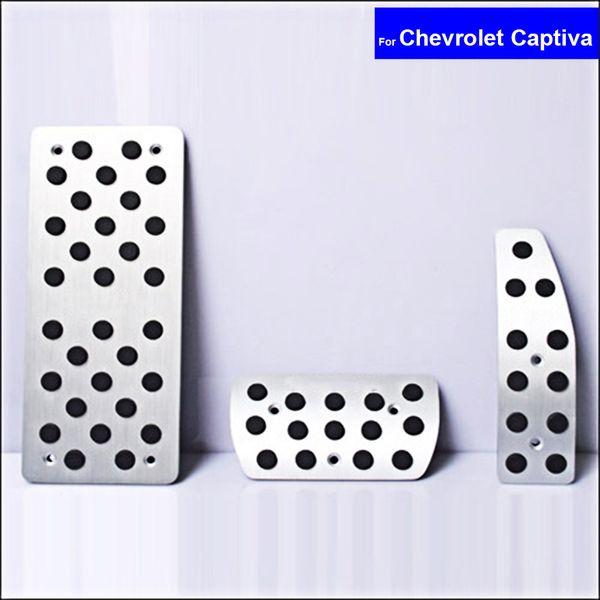 Car Aluminium Alloy Petrol Clutch Fuel Brake Braking Pad Foot Pedals Rest Plate for Chevrolet Captiva Auto Pedals Free Shipping