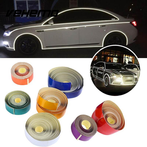 2cmx5M Car Styling Safety Mark Reflective Tapes Stickers Self Adhesive Warning Tape Auto Car Motorcycle Reflective Film Stripe