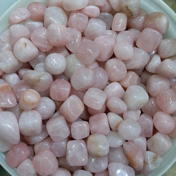 200g Natural Rose Quartz tumbled stones Pink blush Crystal powder small Pebble polished raw gemstone Decoration ornamental rock for healing