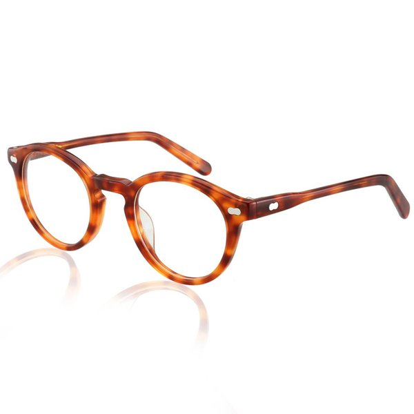 Acetate Optical Glasses Frame Men Tom Full Vintage Round Oliver Eyeglasses For Peoples Women New Prescription Spectacles Eyewear