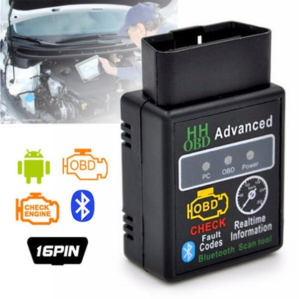 Mini ELM327 V2.1 Bluetooth HH OBD Advanced OBDII OBD2 ELM327 Auto Car Diagnostic Scanner code reader scan tool hot selling